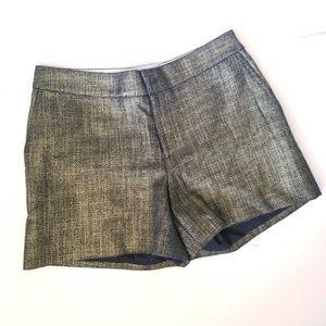 Rachel zoe alexa metallic tweed shorts